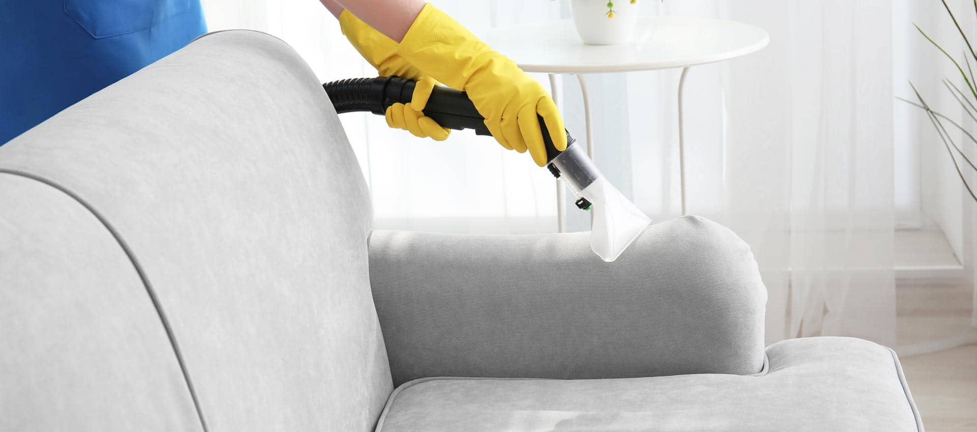cleaner cleaning upholstery