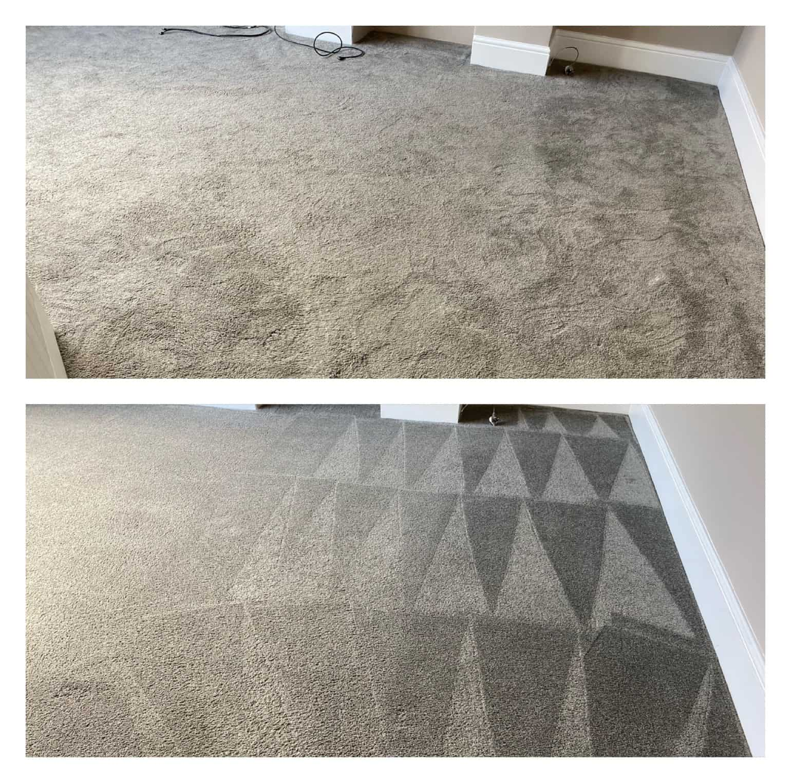 Before and After of carpet cleaning