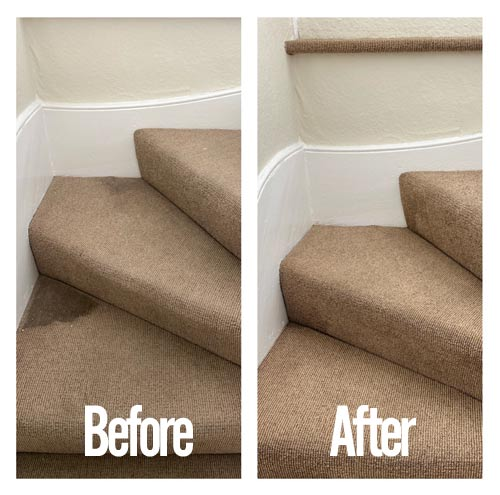 staircase stain before and after